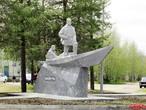 Первый в России памятник В.А. Русанову в Печоре