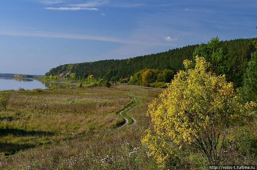 Вид от водопада на р.Томь