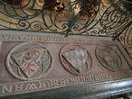 Монастырь святого Креста. Надгробная плита Марии Брабантской