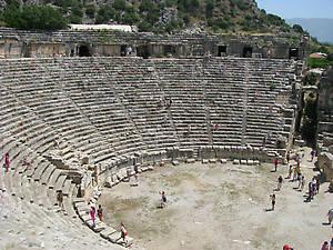 Древнегреческий амфитеатр в Ликии