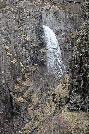 Водопад с первой площадки