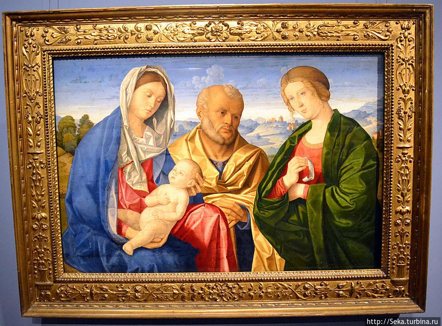 Винченцо Катена. Святое семейство со Святой женщиной