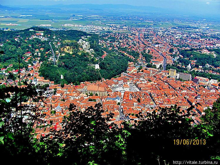 Виды на город с горы Тымп