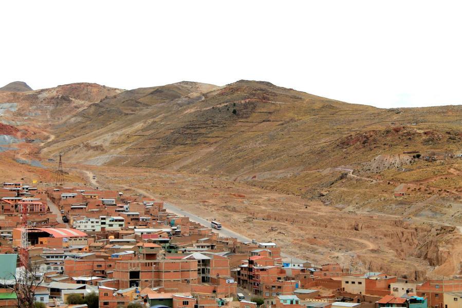 вид в сторону городка шахтёров