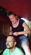Андрей и Наталья Гундаревы в поезде