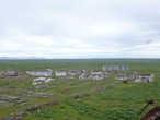 Вид с водонапорной башни на краю поселка