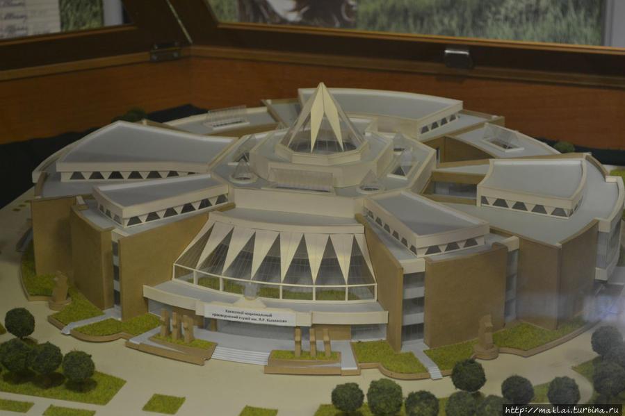 Макет нового здания музея