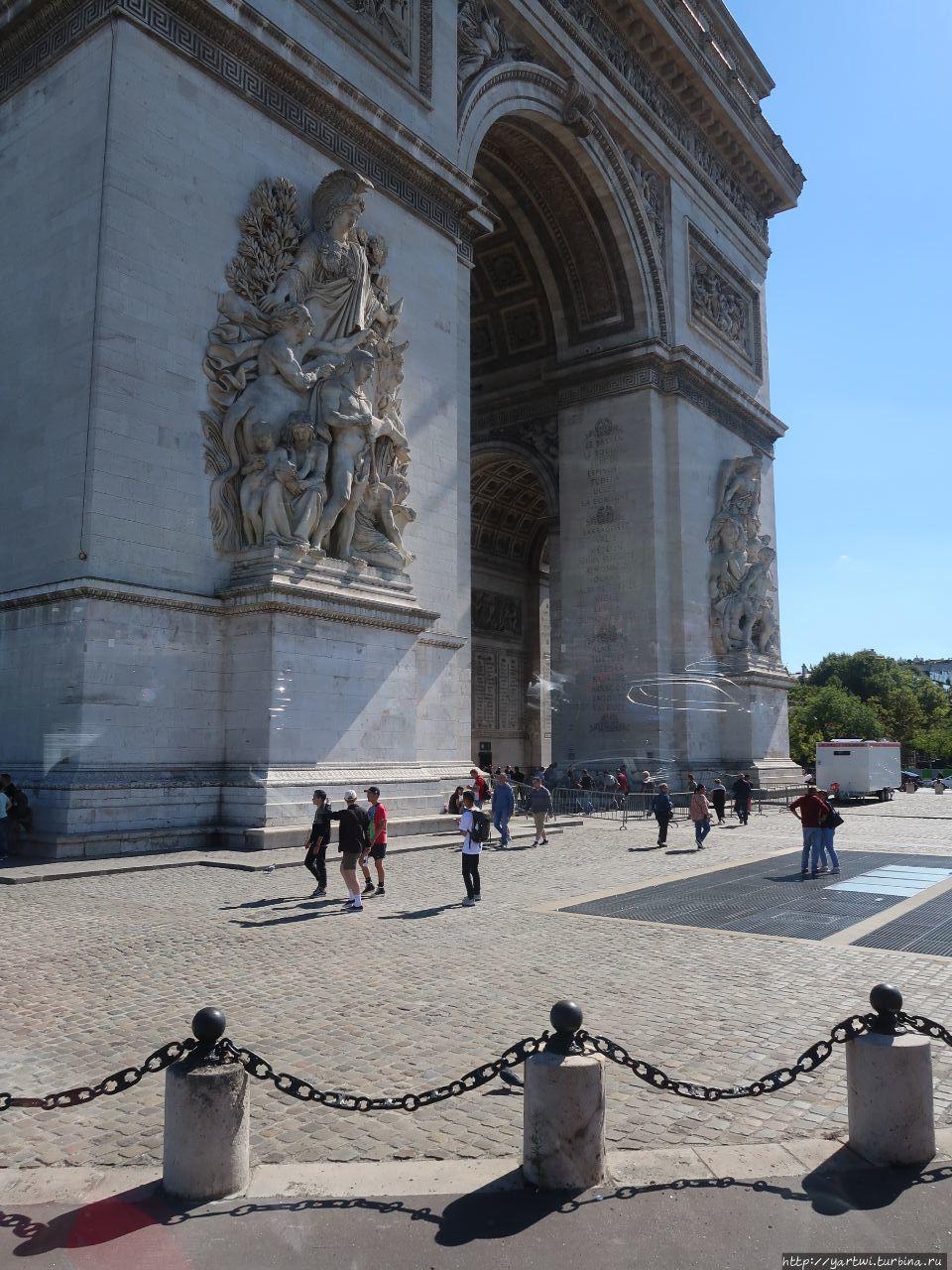 Фрагмент Триумфальной арк