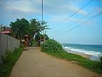 Через дорогу от моего домика- океан