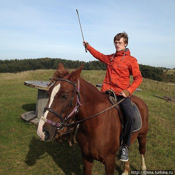 А это я и лошадь Линда.