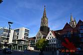 Над всем городом возвышается самый высокий в мире собор-Мюнстр-161,6 м высотой.