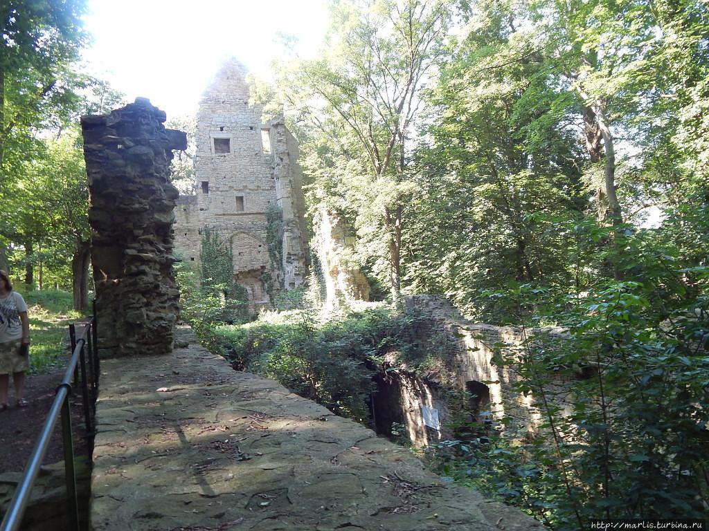 Развалины монастыря Дизибоденберг в Одернхайме на Глане