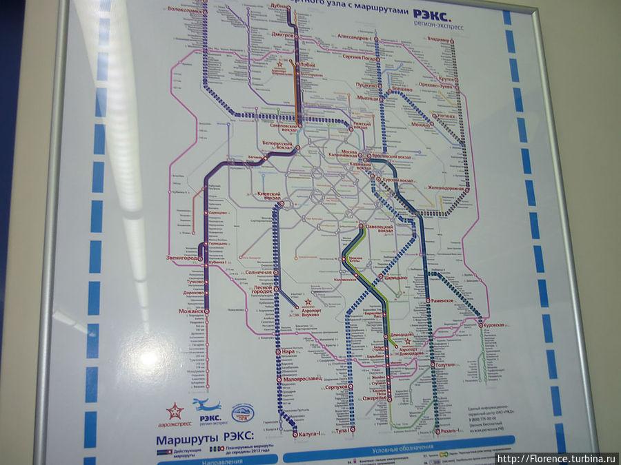 На этой карте не только действующие маршруты РЭКС, но и планируемые