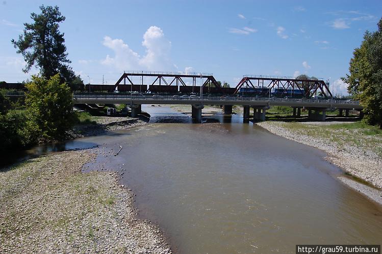 Вид с пешеходного моста м