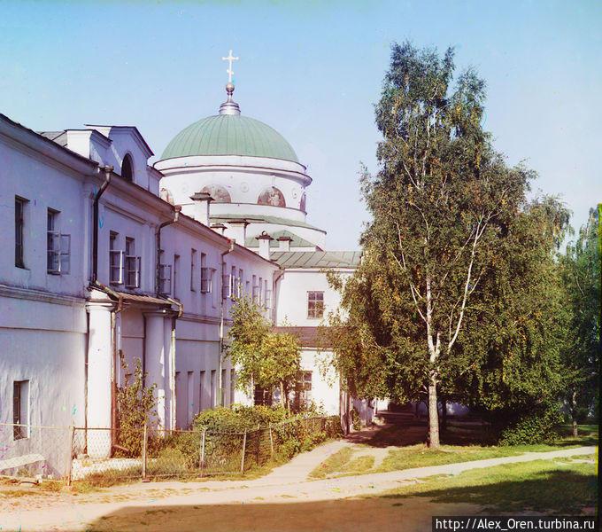 Фото Прокудина-Горского 1910 года. Скорбященская церковь.