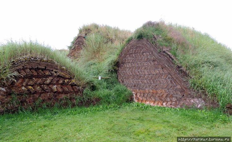Вид исландского дома сзад
