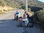 От развалин до деревушки идти восемь км., было очень жарко —  притомились.