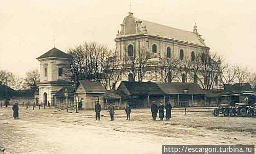 Костел Св. Иоанна Крестителя. источник: T. Wiśniewski, фото неизв. немецкого солдата, 1915 г.