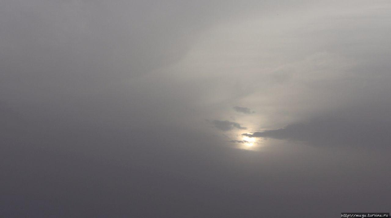 Раннее утро. Небо серое. Хамсин это не только хара, это раскаленный ветер с песком