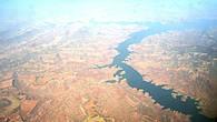 Сыменские горы с самолета