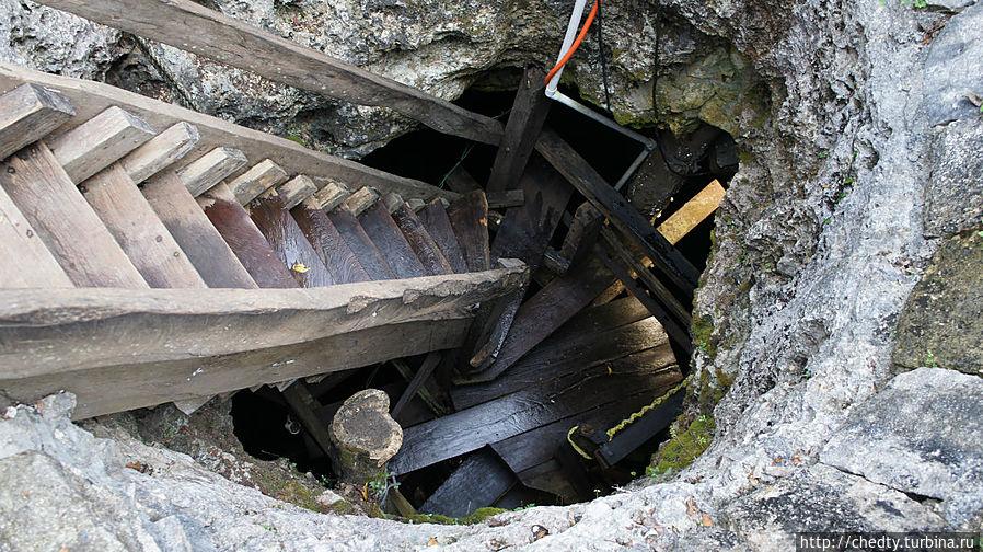 Вход в пещерный синот. Чичен-Ица город майя, Мексика