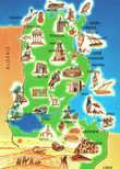 Карта Туниса (открытка)