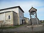 Никольский храм и место, где раньше была колокольня