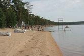 Пляж на озере.