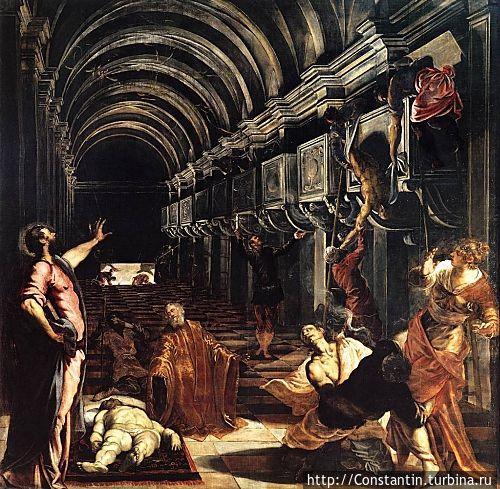 Тинторетто — Обретение мощей апостола Марка