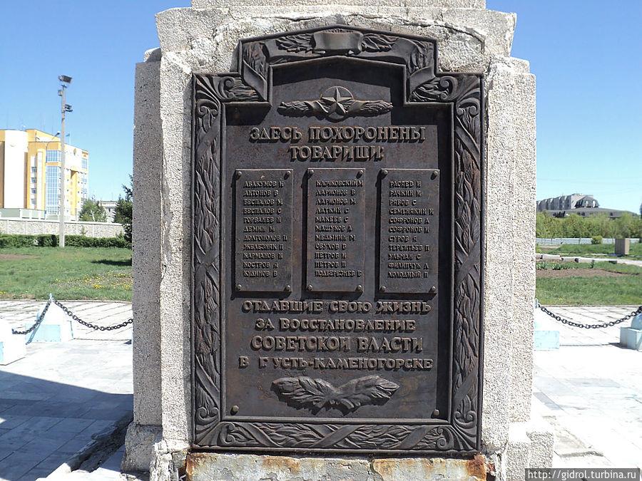 Их имена увековечены по-именно. Они боролись за Россию, а на вечно остались в Казахстане.
