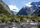 Горная речка перед фьордом