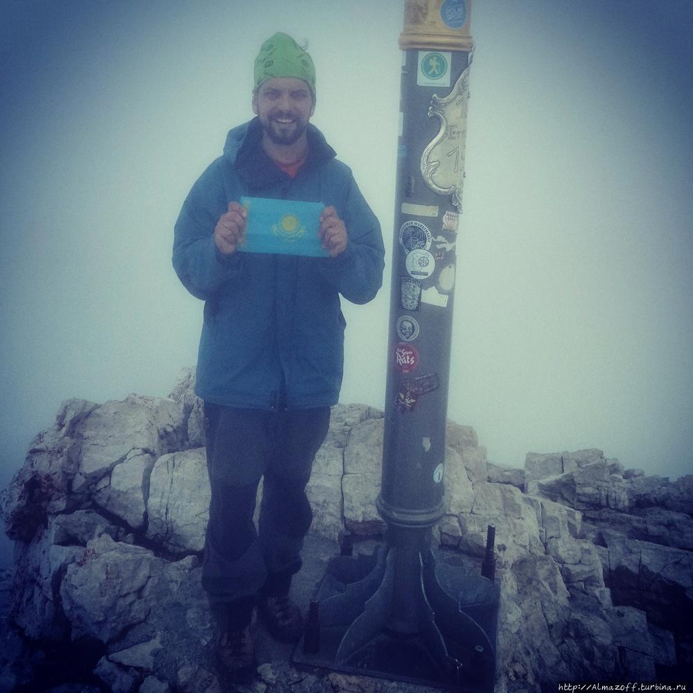 горный гид Андрей Алмазов в Альпах Цугшпитце гора (2962м), Германия