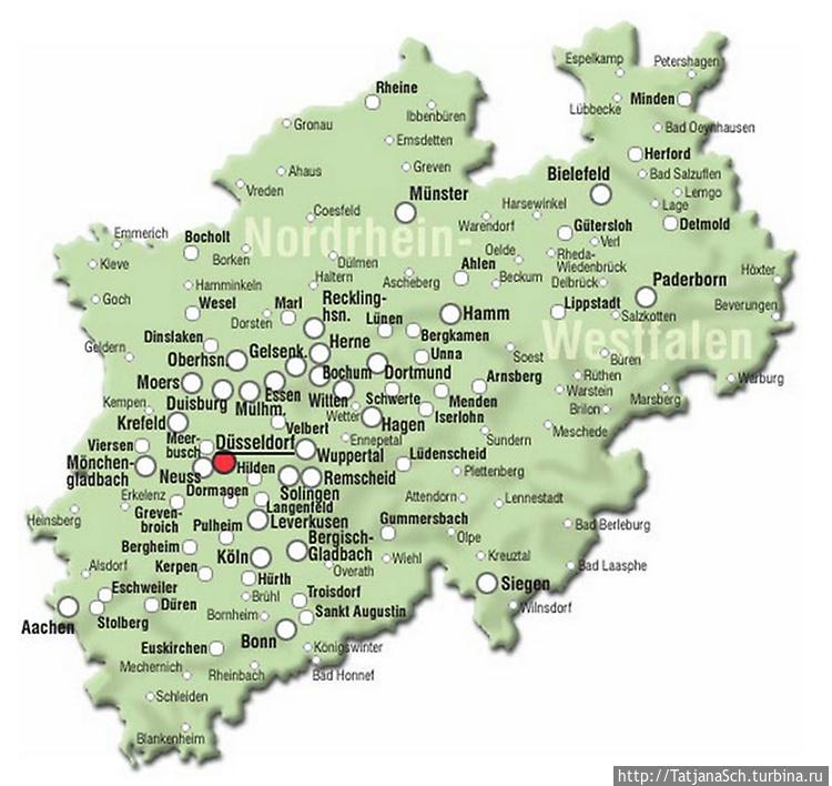 Карта земли NRW — Северны