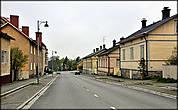 Деревянные домики  на улице Alinenkatu.