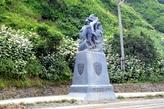 О. Шикотан. Памятник труженикам моря.