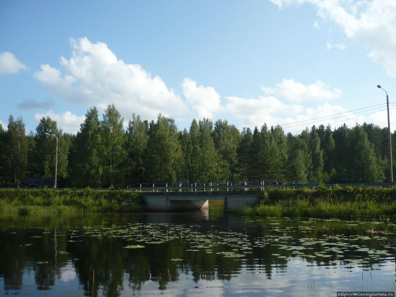 Маленький посёлочек на берегу Саймы Лохилахти, Финляндия