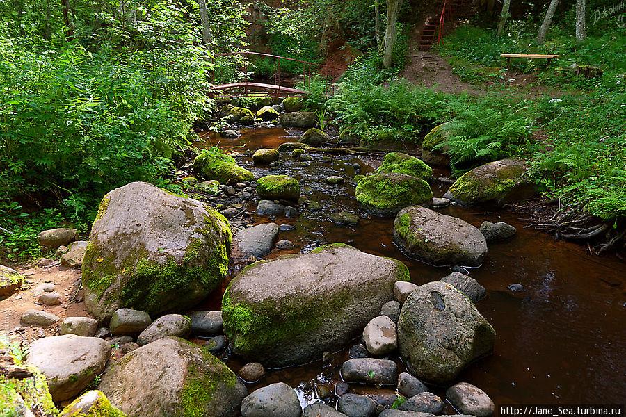 Камень-следовик и речка Кунесть