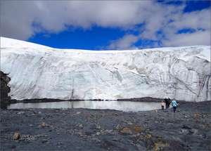 Я остро ощущала, что ледник живой. Если на него долго смотреть в одну точку, кажется, что он дышит...