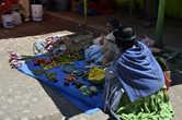 Продажа местных продуктов у причала, озеро Титикака