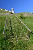 Склоны меловых гор в Дивногорье