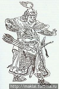 Субедей на китайской гравюре. Кызыл, Россия