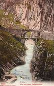 Почтовая открытка с изображением первого и второго мостов (до 1888). Фото из Интернета
