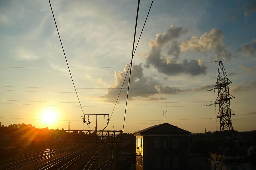 на вокзале в Галиче Солигалич, Россия