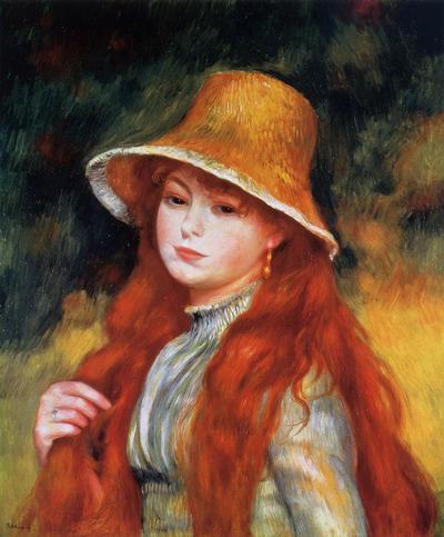 Девушка в соломенной шляпке, ок.1884 г.  Фото из интернета.