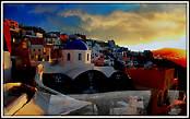 Для тех кто не смог увидеть закат, на острове продают много различных фотографий.