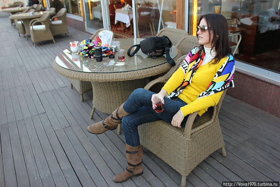 На террасе отеля Golden Horn Sultanahmet
