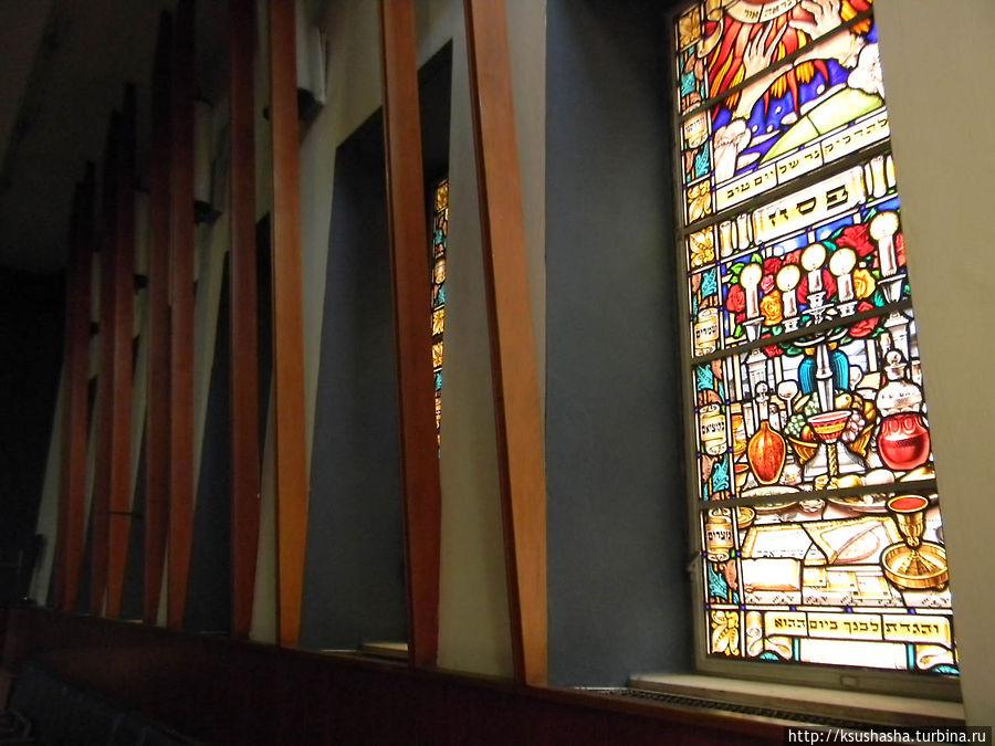 витражи синагоги Ренаним