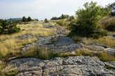 Дреняя дорога на вершине плато.