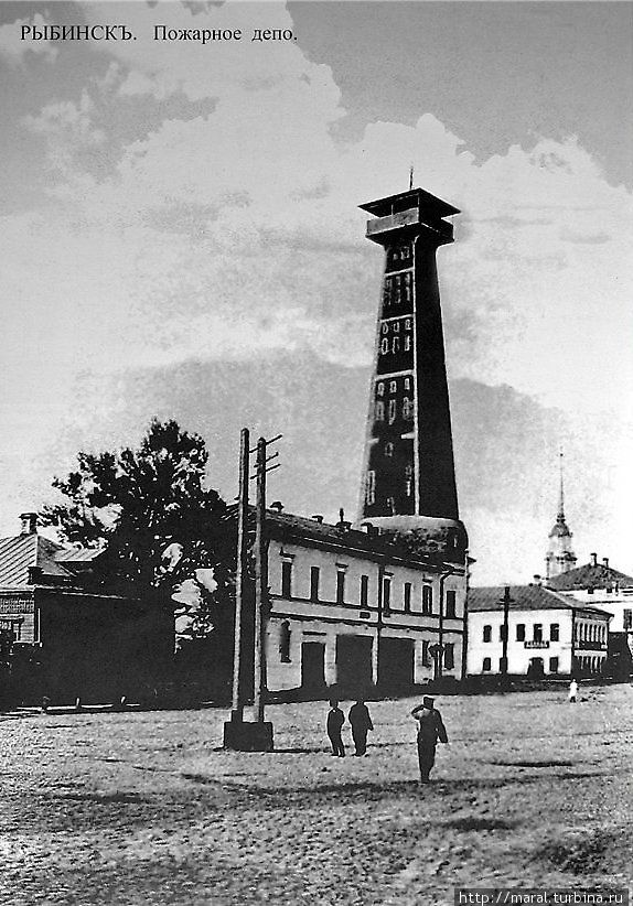 Рыбинская каланча, построенная в 1912 году по проекту архитектора И.К. Хотина из монолитного железобетона
