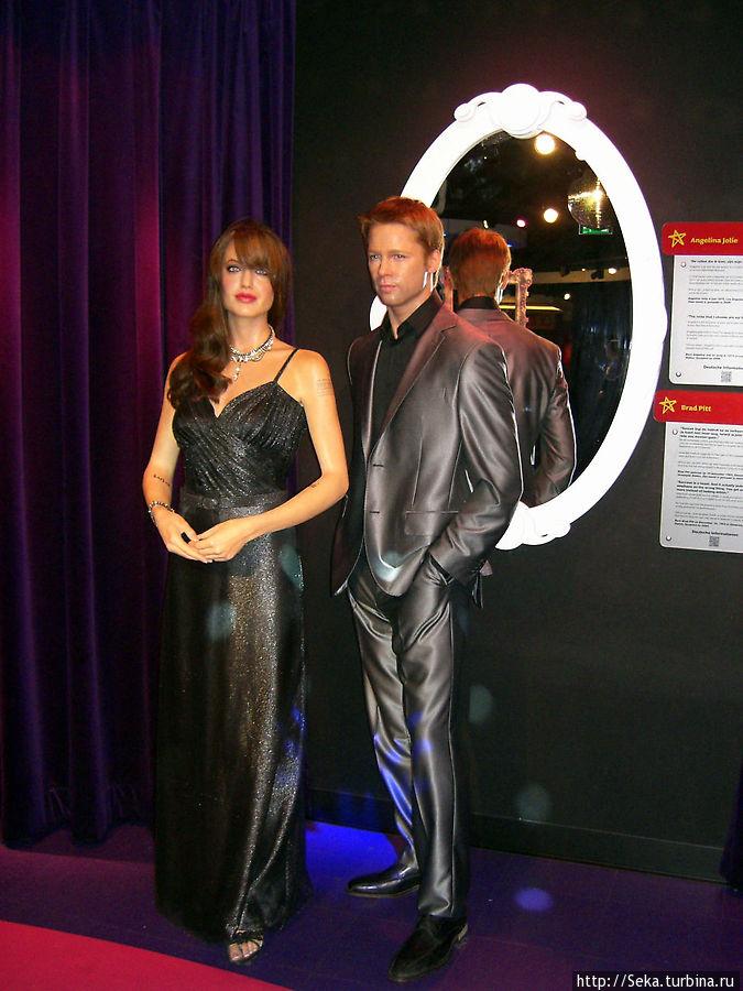 Знаменитая голливудская пара: А. Джоли и Б. Питт